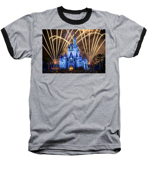 Disney World Baseball T-Shirt by Anna Rumiantseva
