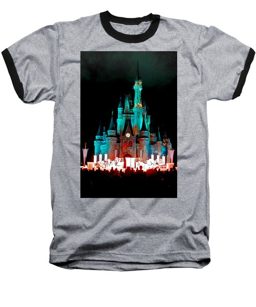 Disney World Night Baseball T-Shirt by John Haldane