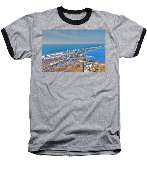 Distant Aerial View Of Gulf Shores Baseball T-Shirt