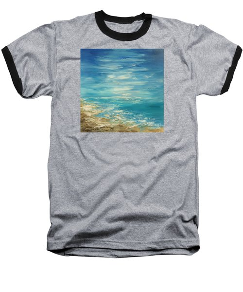 Baseball T-Shirt featuring the painting Distant Deluge by Tatiana Iliina