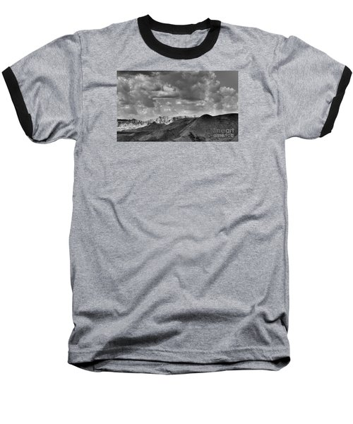 Distant Mountains The Badlands Baseball T-Shirt