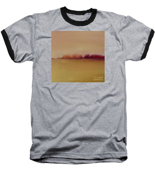Distant Red Trees Baseball T-Shirt