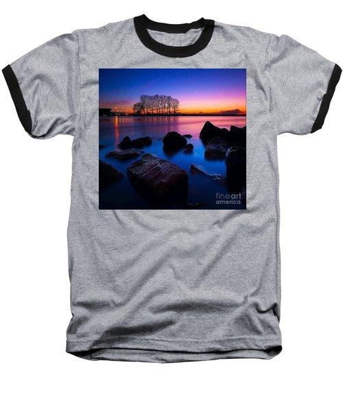 Distant Shores At Night Baseball T-Shirt