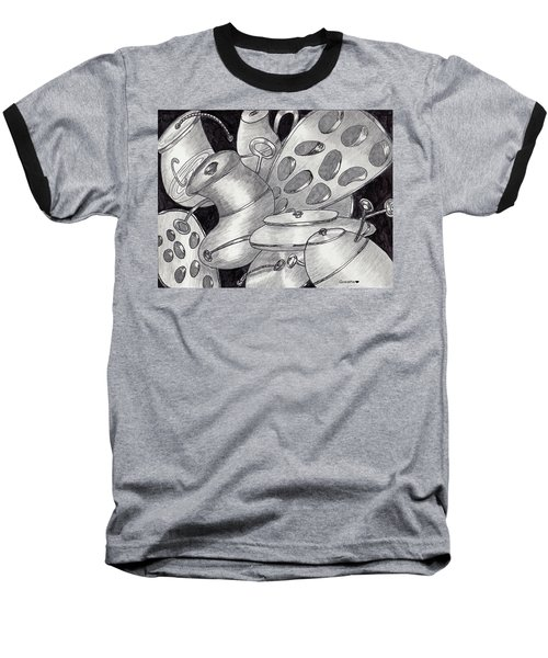 Distorted Images Baseball T-Shirt by Quwatha Valentine