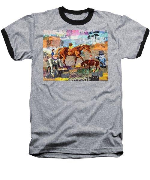 Distracted Riding Baseball T-Shirt
