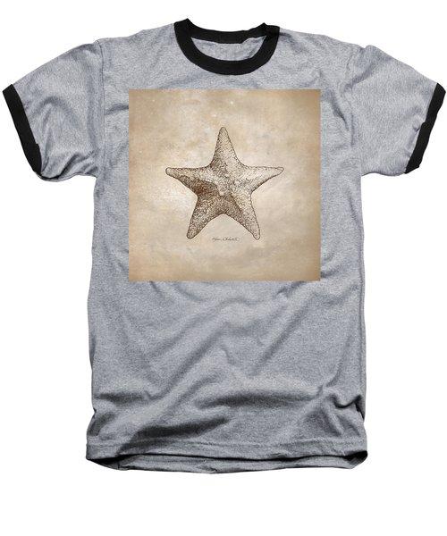 Distressed Antique Nautical Starfish Baseball T-Shirt