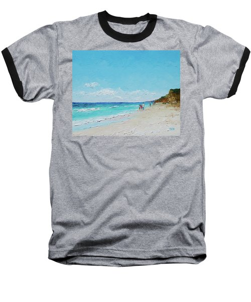 Ditch Plains Beach Montauk Hamptons Ny Baseball T-Shirt