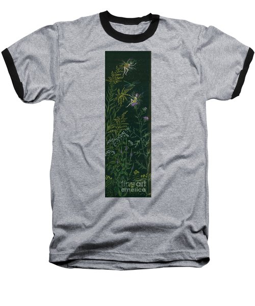 Ditchweed Fairies Goldenrod And Thistle Baseball T-Shirt