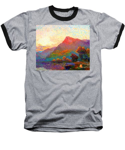 Baseball T-Shirt featuring the painting  Buddha Meditation, Divine Light by Jane Small
