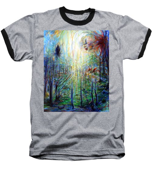 Divine Mother Earth Baseball T-Shirt by Heather Calderon