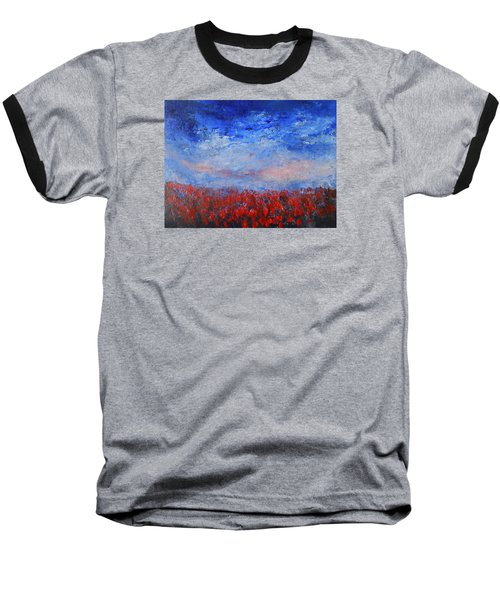 Baseball T-Shirt featuring the painting Divine Red by Jane See