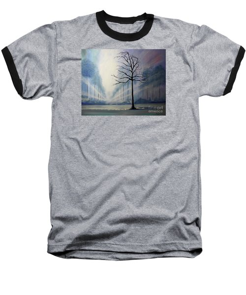 Baseball T-Shirt featuring the painting Divine Serenity by Stacey Zimmerman