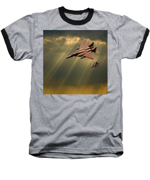 Diving Eagles Baseball T-Shirt