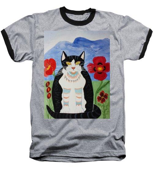 Diwali Tux Cat Baseball T-Shirt