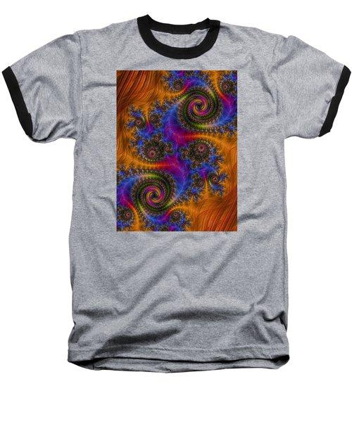 Dizzy Spirals Baseball T-Shirt