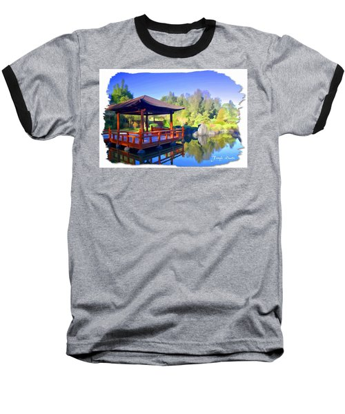 Baseball T-Shirt featuring the photograph Do-00003 Shinden Style Pavilion by Digital Oil