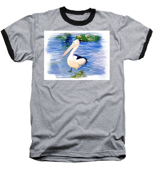 Baseball T-Shirt featuring the photograph Do-00088 Pelican by Digital Oil