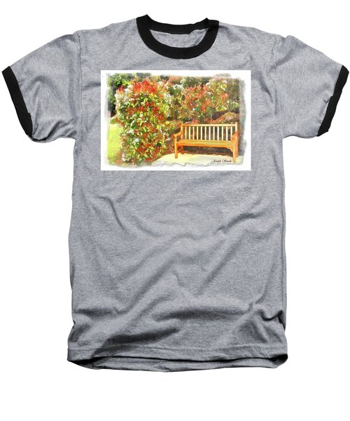 Baseball T-Shirt featuring the photograph Do-00122 Inviting Bench by Digital Oil