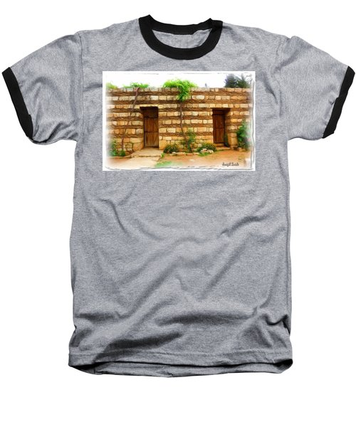 Baseball T-Shirt featuring the photograph Do-00305 Old Hutt In Anjar by Digital Oil