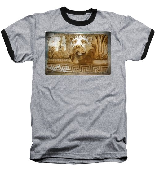 Baseball T-Shirt featuring the photograph Do-00313 Lion Water Feature by Digital Oil
