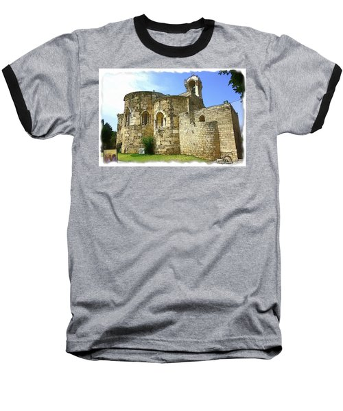 Baseball T-Shirt featuring the photograph Do-00344 Church Of St John Marcus In Byblos by Digital Oil