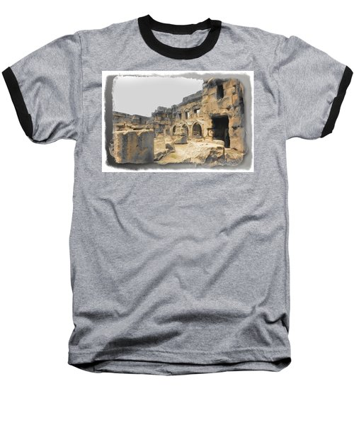 Baseball T-Shirt featuring the photograph Do-00452 Inside The Ruins by Digital Oil