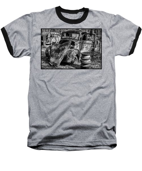 Do Not Open Hood Baseball T-Shirt