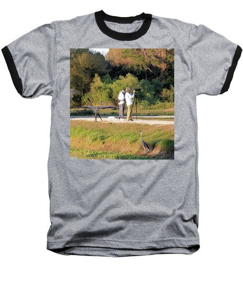Baseball T-Shirt featuring the photograph Do You See Any Birds? by Rosalie Scanlon