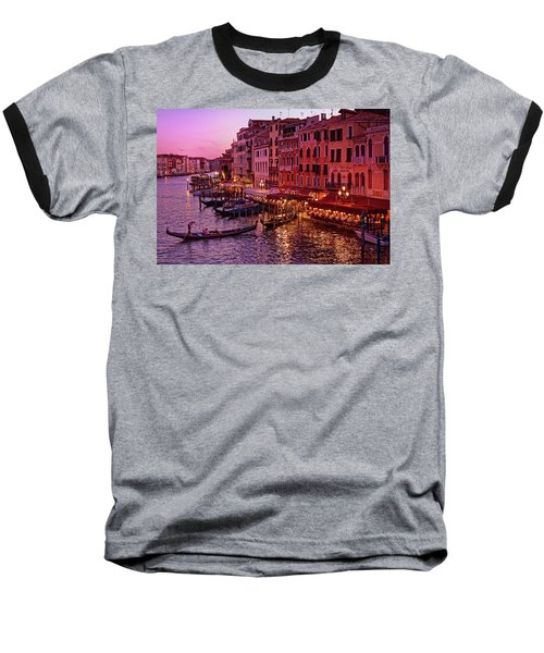 A Cityscape With Vintage Buildings And Gondola - From The Rialto In Venice, Italy Baseball T-Shirt