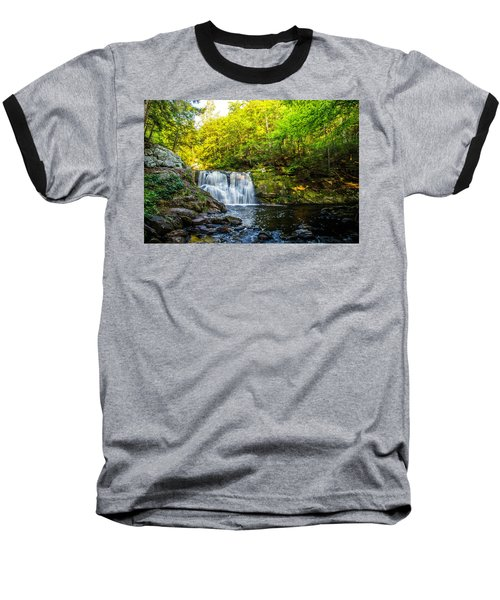 Doans Falls Lower Falls Baseball T-Shirt