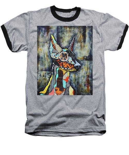 Doberman Pinscher Baseball T-Shirt by Patricia Lintner