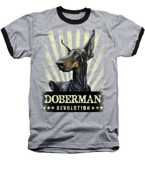 Doberman Revolution Baseball T-Shirt