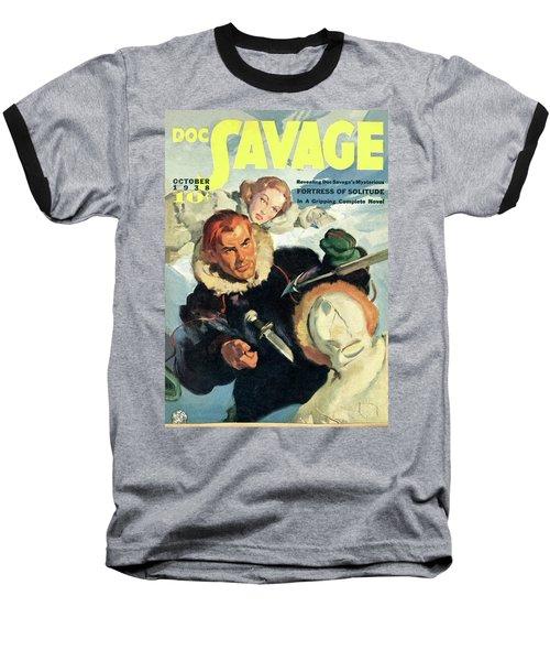 Doc Savage Fortress Of Solitude Baseball T-Shirt