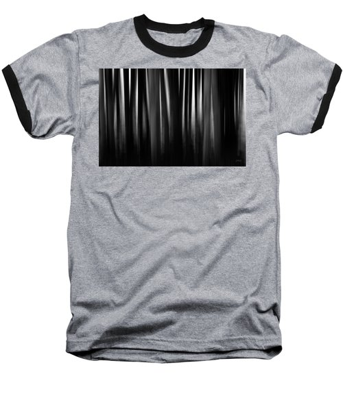 Baseball T-Shirt featuring the photograph Dock And Reflection II Bw by David Gordon