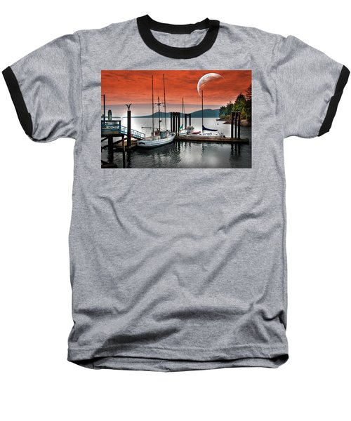 Dock And The Moon Baseball T-Shirt