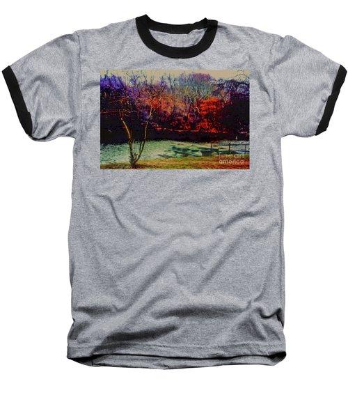 Dock At Central Park Baseball T-Shirt