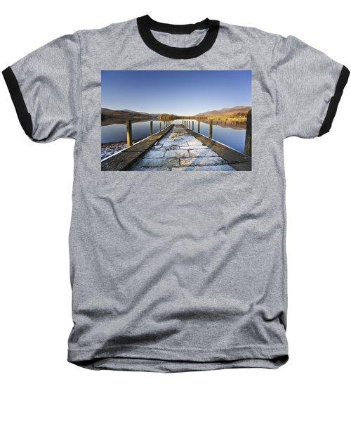 Dock In A Lake, Cumbria, England Baseball T-Shirt