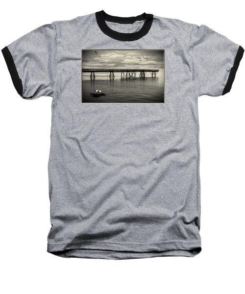 Dock On The Sea Baseball T-Shirt