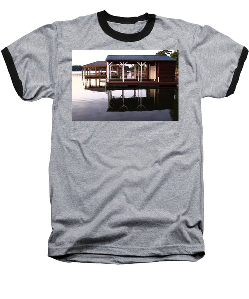 Dock Reflections Baseball T-Shirt by Catie Canetti