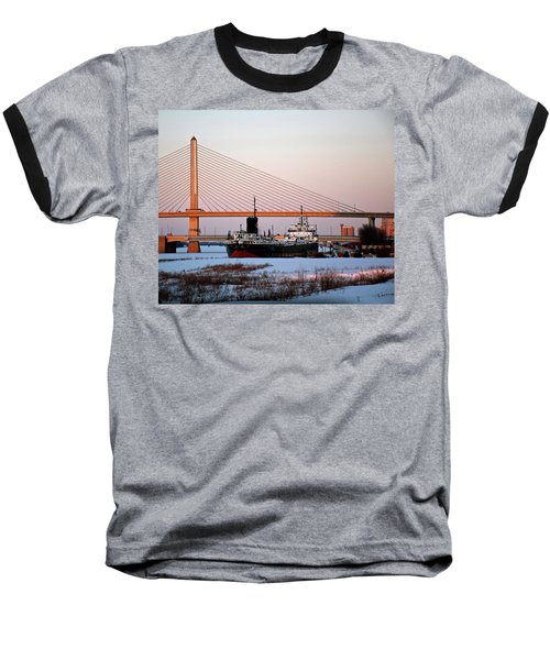 Docked Under The Glass City Skyway  Baseball T-Shirt