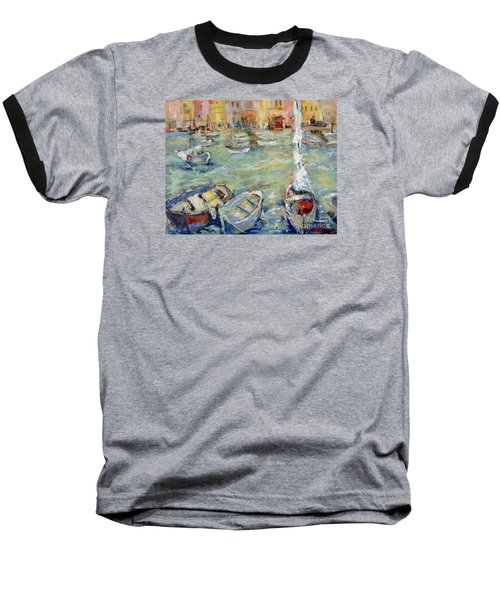 Docking In Cassis Baseball T-Shirt by Sharon Furner