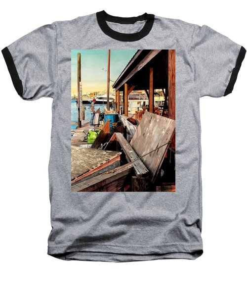 Docks At Port Aransas Baseball T-Shirt