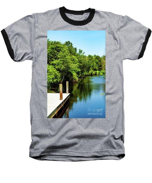 Dockside In Delaware Baseball T-Shirt