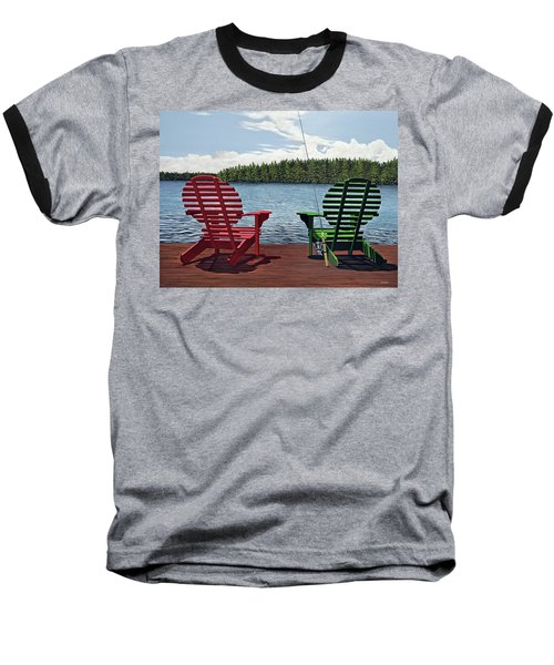 Dockside Baseball T-Shirt by Kenneth M  Kirsch