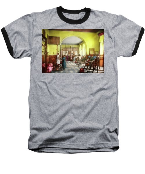 Baseball T-Shirt featuring the photograph Doctor - Physical Therapist - Welcome To The A Traction 1918 by Mike Savad