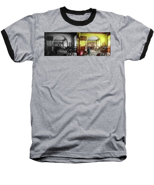 Baseball T-Shirt featuring the photograph Doctor - Physical Therapist - Welcome To The A Traction 1918 - Side By Side by Mike Savad