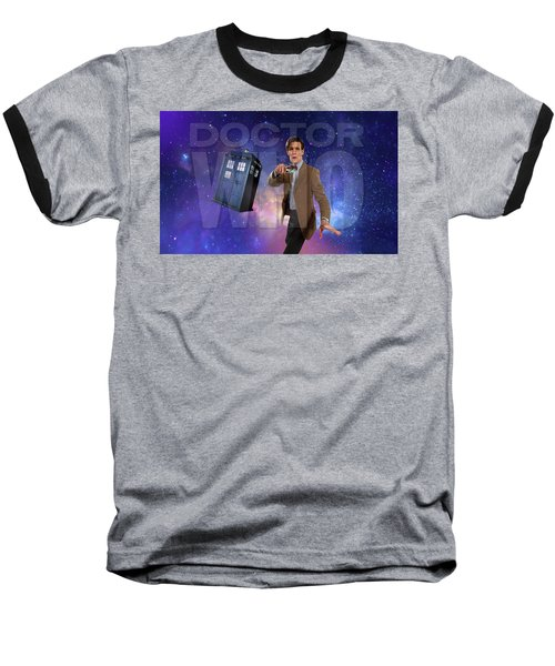 Doctor Who Baseball T-Shirt by Pat Cook