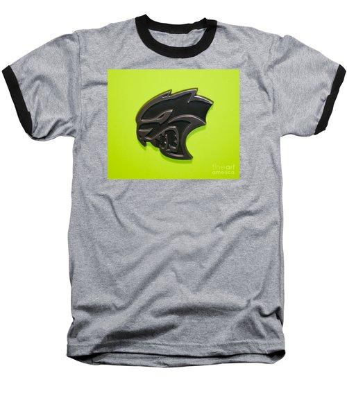 Dodge Challenger Srt Hellcat Emblem Baseball T-Shirt by Pamela Walrath