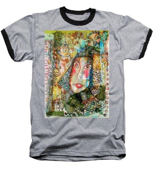 Doe Eyed Girl And Her Spirit Guides Baseball T-Shirt