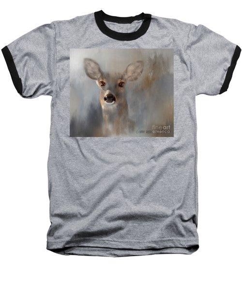 Doe Eyes Baseball T-Shirt by Kathy Russell